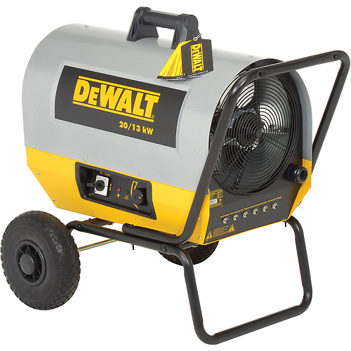DeWALT Portable Forced Air Electric Heater DXH2000TS 20kW, 240V, Single Phase, 44K to 68K by