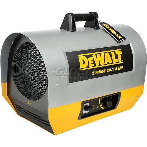DeWALT Portable Forced Air Electric Heater DXH2003TS 20kW, 240V, Three Phase, 44K to 68K by