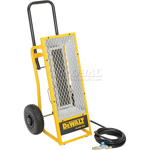 DeWALT Portable Radiant Propane Heater DXH45LP 45,000 BTU by Propane Heaters