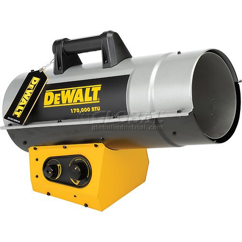 DeWALT Portable Forced Air Propane Heater DXH170FAVT 125K to 170K BTU by Propane Heaters