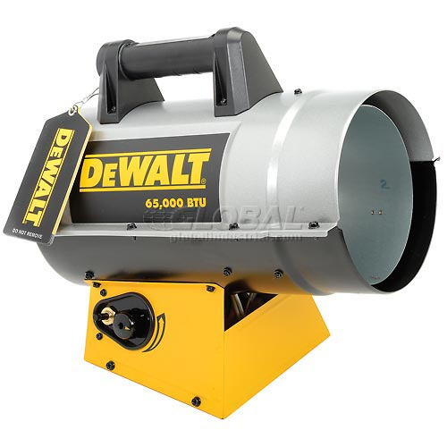 DeWALT Portable Forced Air Propane Heater DXH65FAV 35K to 65K BTU by Propane Heaters