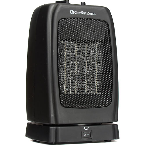Comfort Zone CZ448 Oscillating Ceramic Heater – Portable Fan Forced – Black... by