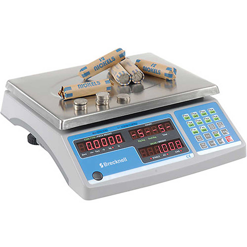 "Brecknell Digital Counting & Coin Scale 60lb x 0.002lb 11-1/2"" x 8-3/4"" Platform by"