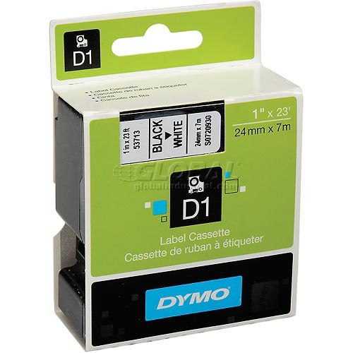 "Buy DYMO D1 Standard Labels 1"" Black on White"