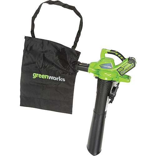Buy GreenWorks 24322 G-MAX Cordless DigiPro Variable Speed Blower Vac, 40V, 4aH Battery & Charger