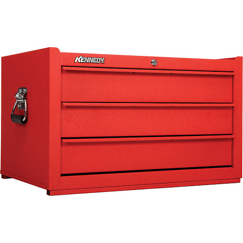 "Kennedy 173CRW K1800 Series 27"" Commercial 3-Drawer Tool Chest Red Wrinkle by"