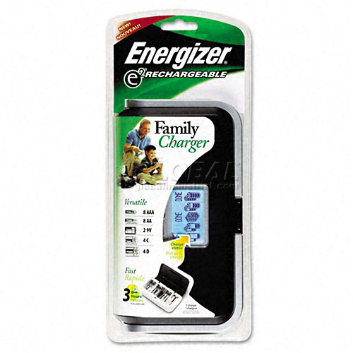 Family Battery Charger, Multiple Battery Sizes by