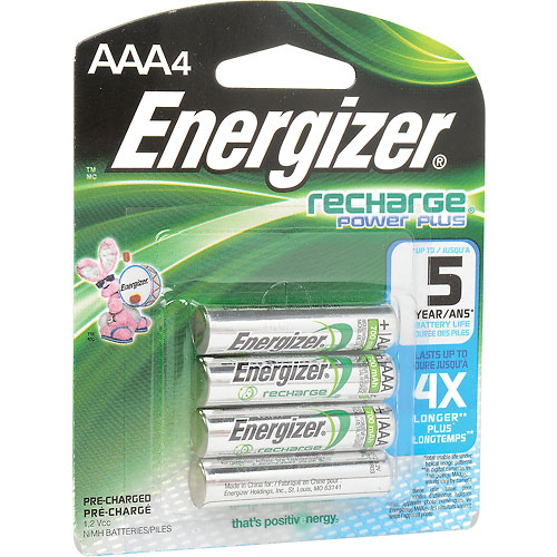 Buy Energizer AAA e² NiMH Rechargeable Batteries 4 per Pack