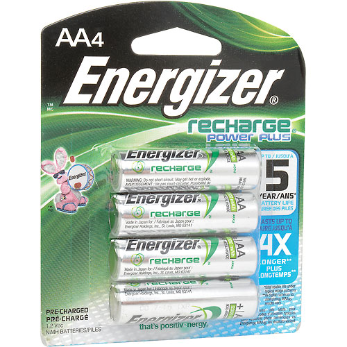 Buy Energizer AA e² NiMH Rechargeable Batteries 4 per Pack