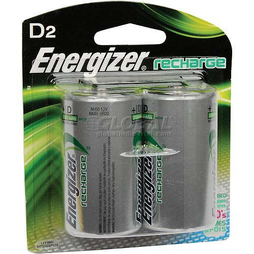 Buy Energizer NH50BP-2 D e² NiMH Rechargeable Batteries 2 per Pack