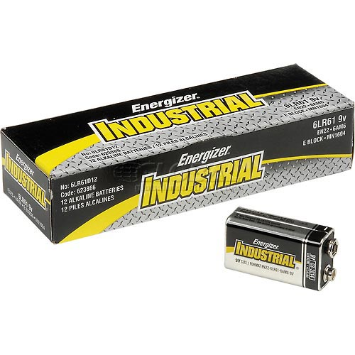 Buy Energizer Industrial EN22 9V Alkaline Batteries Package Count 12