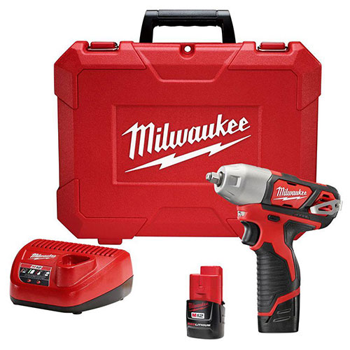 "Milwaukee 2463-22 M12 3/8"" Impact Wrench Kit Cordless Lithium-Ion by"