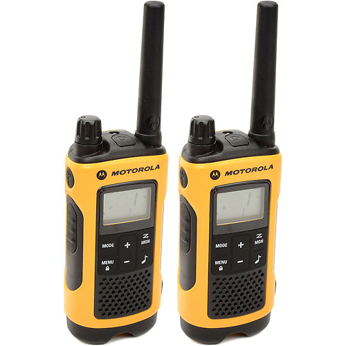 Buy Motorola Talkabout T400 Two-Way Radios, Yellow/Black 2 Pack