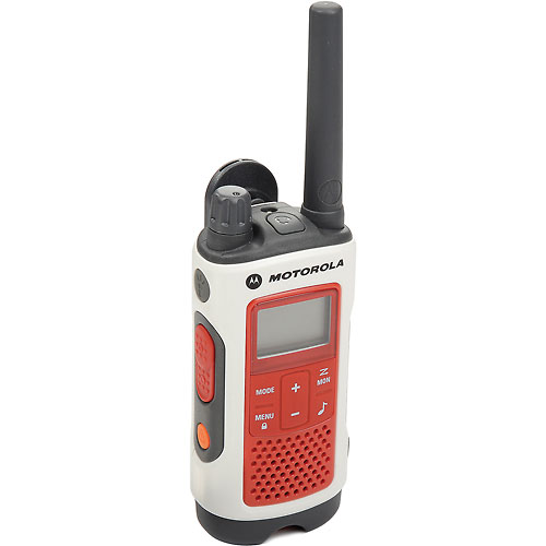 Buy Motorola Talkabout T480 Emergency Preparedness Two-Way Radio, White/Red