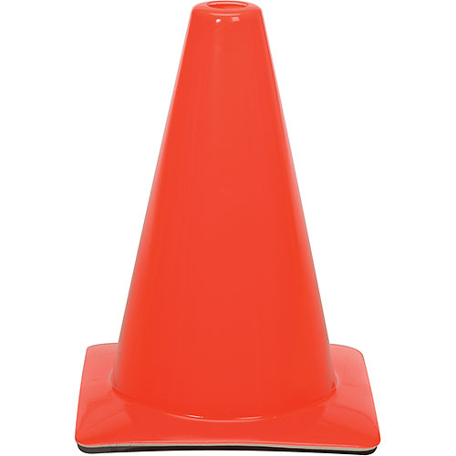 "Click here to buy 12"" Traffic Cone, Orange, 1-1/2 lb."