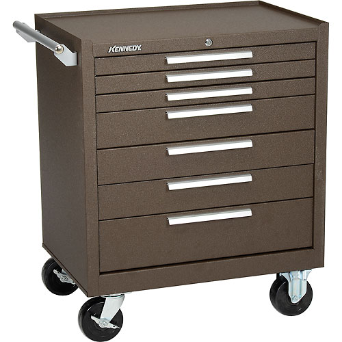 "Kennedy 297XB 29"" 7-Drawer Roller Cabinet w/ Ball Bearing Slides Brown by"