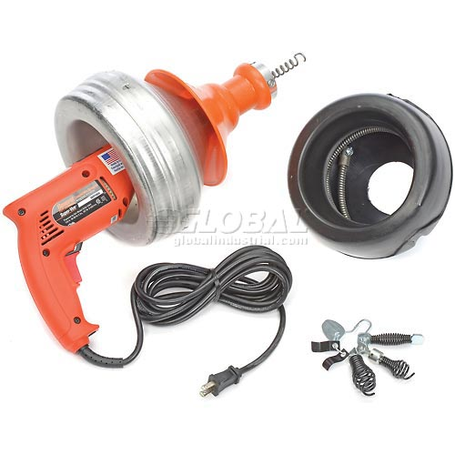 General Wire SV-B-WC Super-Vee Drain Cleaning Machine includes 2 Cables/Cutter Set & Case by