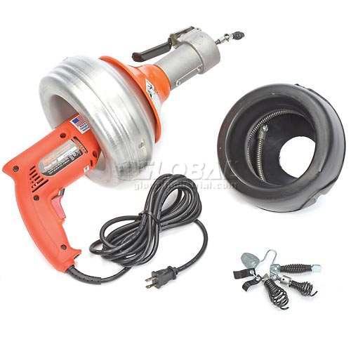 Buy General Wire PV-A-WC Power-Vee Drain Cleaning Machine includes 2 Cables, Cutter Set & Case
