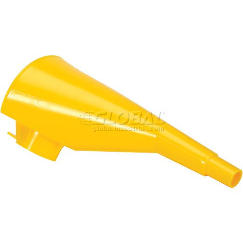 "Eagle 10"" Polyethylene Funnel for Metal Type I Cans Yellow, F-15 by"