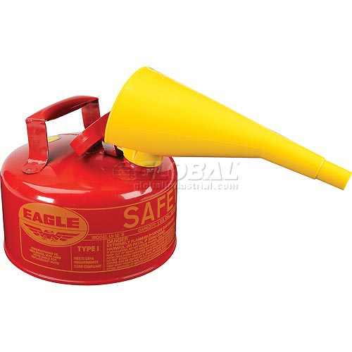 Eagle Type I Safety Can 1 Gallon with Funnel Red, UI-10-FS by