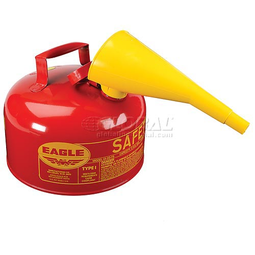 Eagle Type I Safety Can 2 Gallon with Funnel Red, UI-20-FS by