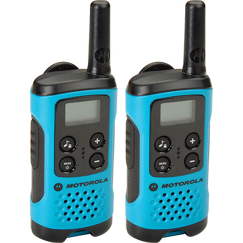 Buy Motorola Talkabout T100 Two-Way Radios, Neon Blue 2 Pack