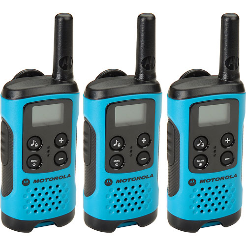 Buy Motorola Talkbout T100TP Two-Way Radios, Neon Blue 3 Pack