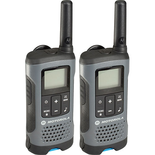 Buy Motorola Talkabout T200 Rechargeable Two-Way Radios,Gray 2 Pack
