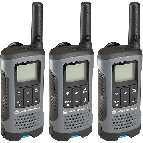 Buy Motorola Talkabout T200TP Rechargeable Two-Way Radios,Gray 3 Pack