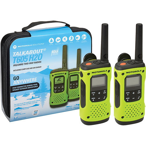 Buy Motorola Talkabout T605 Waterproof Rechargeable Two-Way Radios 2 Pack