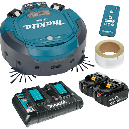 Makita 18V X2 LXT Lithium-Ion Cordless Robotic Vacuum W/ Batteries & Charger DRC200PT by