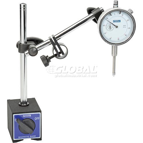 Fowler 52-585-110 Magnetic Base with Fine Adjust and Dial Indicator Combo by