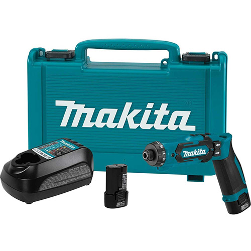 "Makita DF012DSE, 7.2v Lithium-Ion Cordless 1/4"" Hex Driver-Drill Kit w/ Auto-Stop Clutch by"