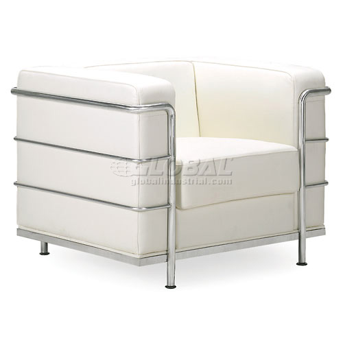 Fortress Armchair, White by