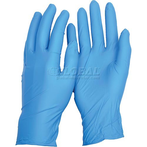 TNT Blue Disposable Gloves, ANSELL 92-675-L, 100 Gloves/Box by