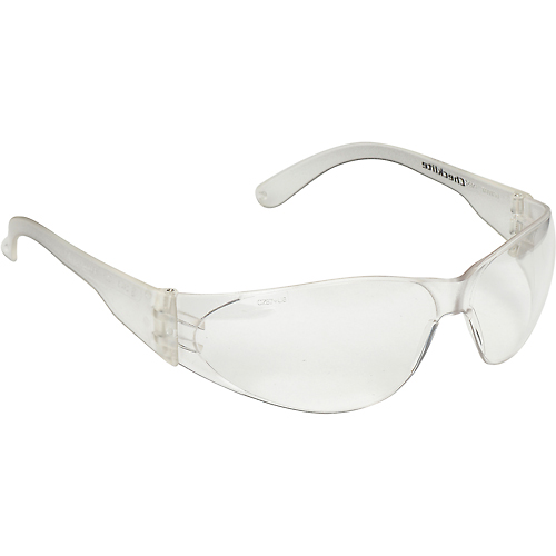 Buy Checklite Safety Glasses, Clear Lens, Uncoated, MCR Safety CL010 Package Count 12