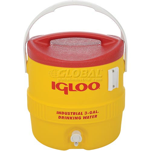 Igloo 431 Beverage Cooler, Insulated, Yellow / Red, 3 Gallons by