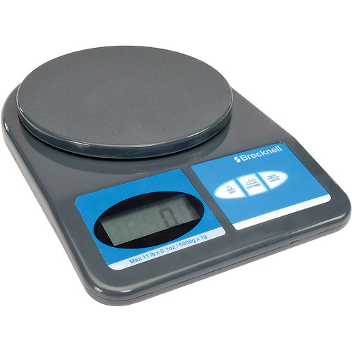 Brecknell 311 Office Digital Scale 11lb x 0.1 oz, 5-7/8 Diameter Platform by