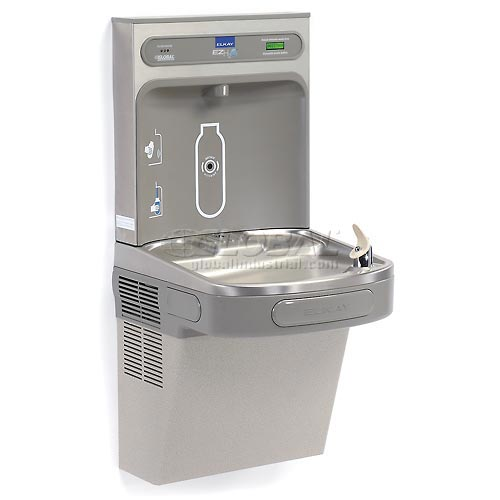 Elkay EZH2O LZS8WSLK Filtered Water Bottle Refilling Station, Wall Mount, Gray by
