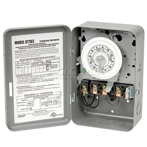 Click here to buy 24-Hour Timer 120 V, DPST.