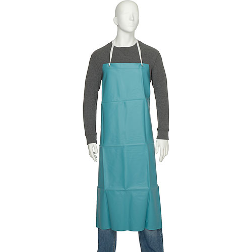 "San Jamar 614DVA20-GN Vinyl Apron, 36"" x 45"", Extra Long Braided Ties, Green, No... by"