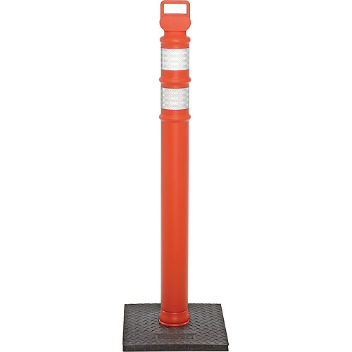 """45"""" Orange Ez Grab Delineator Post, Flared With 10lb Base by"""