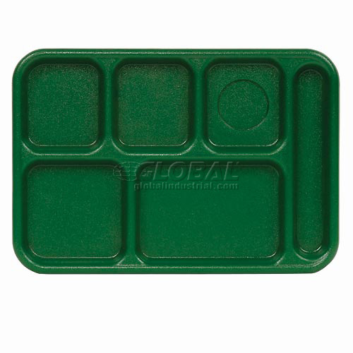 "Buy Cambro 10146CW119 School Tray 10"" x 14"" 6 Compartment, Sherwood Green Package Count 24"