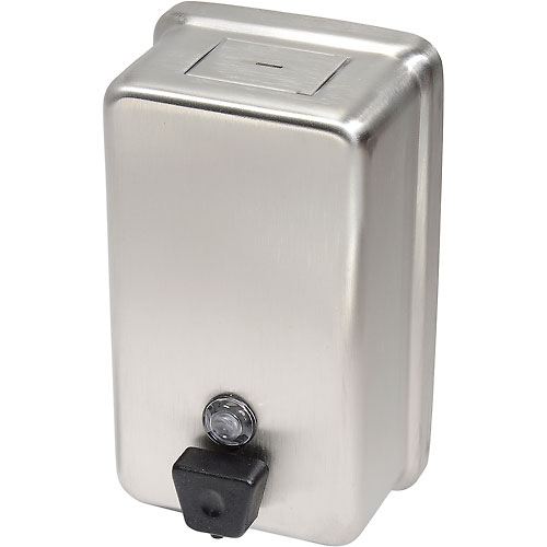 Frost Wall Mount Manual Vertical Liquid Soap Dispenser Stainless 708A by