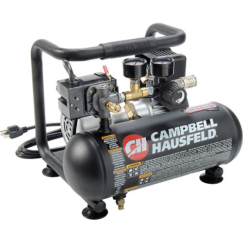 Campbell Hausfeld CT100100AV, Oil-Free Hot Dog Air Comp., 1 Gal, 0.5 HP, 125 PSI, 0.7 CFM,... by