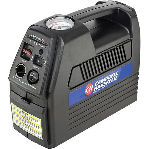 "Campbell Hausfeld CC2300, Cordless Rechargeable Inflator, 12VDC or 120VAC, 230 PSI, 24"" Hose by"