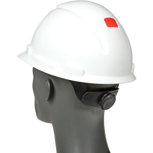 3M Hardhat With UVicator, H-701R-UV, White, 4-Point Ratchet Suspension by