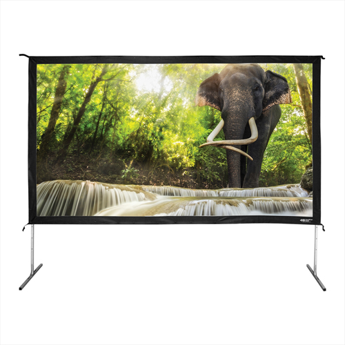 "Buy HamiltonBuhl Freestanding Projector Screen with Case 138"" Diagonal Folding Frame HDTV Format"