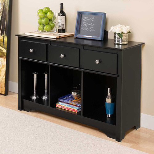 Prepac Manufacturing Black Living Room Console by