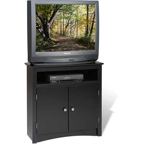 Prepac Manufacturing Black Tall Corner TV Cabinet by